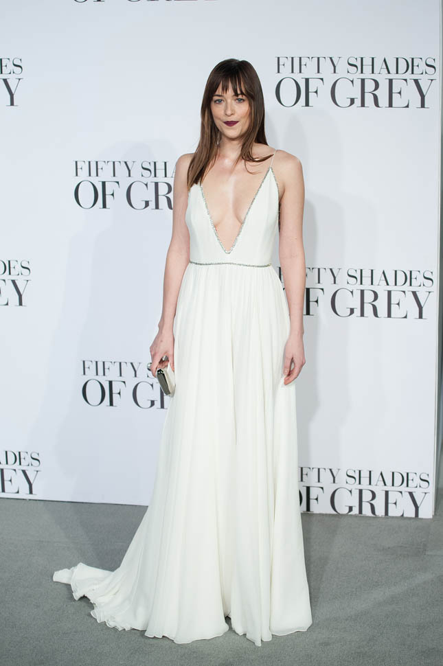 Dakota Johnson Looks Stunning at Premiere of Fifty Shades of Grey